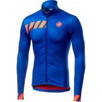 Castelli pisa maillot de cyclisme à manches longues surf bleu