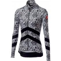 Castelli goccia maillot de cyclisme à manches longues femme noir blanc