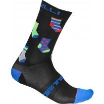 Castelli pazzo 18 chaussettes de cyclisme noir