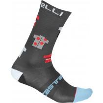 Castelli pazzo 18 chaussettes de cyclisme gris foncé