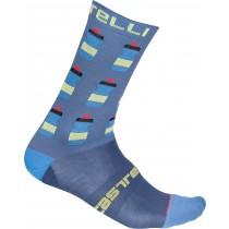 Castelli pazzo 18 chaussettes de cyclisme steel bleu clair
