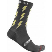 Castelli Pazzo 18 Sock - Dark Gray Yellow