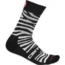 Castelli safari 15 chaussettes de cyclisme femme zebra noir blanc