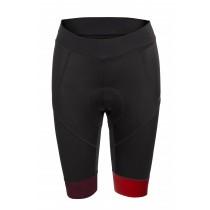 Agu essential prime cuissard de cyclisme court femme noir rouge