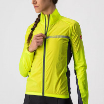 Castelli Squadra Stretch W Jacket - Yellow Fluo/Dark Gray