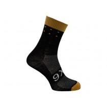 Agu six6 merino chaussettes de cyclisme noir