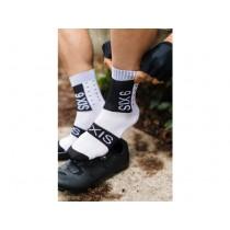 Agu six6 chaussettes de cyclisme optical blanc