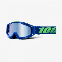 100% racecraft mtb goggle dreamflow blauw - mirror lens