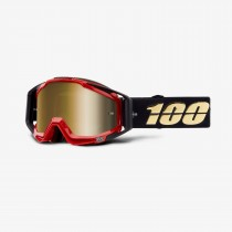 100% racecraft mtb goggle hot rod gold - mirror true gold lentille