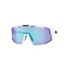 Bliz Vision Matt White Bril Smoke with Blue Multi Lens