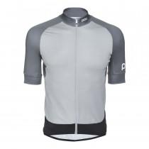 Poc essential road maillot de cyclisme à manches courtes francium multi gris