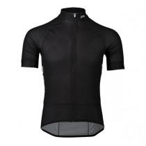 Poc essential road light maillot de cyclisme à manches courtes uranium noir