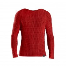 GripGrab freedom seamless thermal sous-vêtement à manches longues rouge