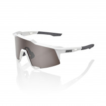 100% Speedcraft - Matte White - HiPER Silver Mirror Lens