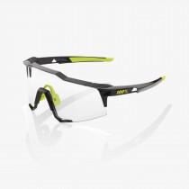 100% speedcraft lunettes de cyclisme gloss noir - photochromic lentille