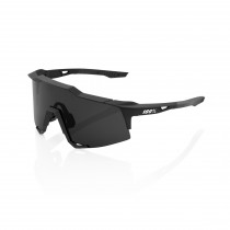 100% Speedcraft - Soft Tact Black - Smoke Lens