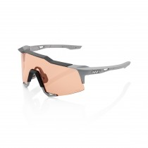 100% Speedcraft - Soft Tact Stone Grey - Hiper Coral Lens