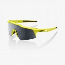 100% speedtrap fietsbril soft tact banana geel - black mirror lens