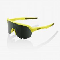 100% S2 fietsbril soft tact banana geel - grey green lens