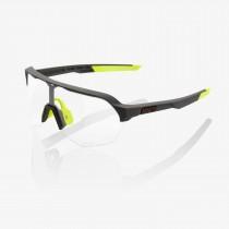 100% S2 lunettes de cyclisme soft tact cool gris - photochromic lentille