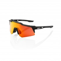 100% Speedcraft XS Bril - Soft Tact Black - HiPER Red Multilayer Mirror Lens