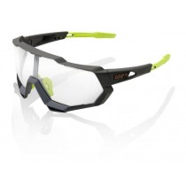 100% speedtrap photochromic fietsbril soft tact cool grijs - photochromic lens