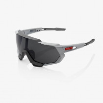 100% Speedtrap - Soft Tact Stone Grey Fietsbril - Smoke Lens