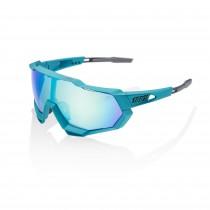 100% speedtrap Peter Sagan LE lunettes blue topaz - blue topaz multilayer mirror lentille