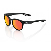 100% campo fietsbril mat crystal zwart / hiper rood multilayer mirror lens