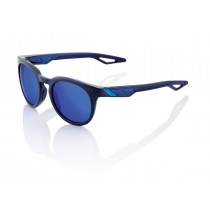 100% campo fietsbril polished translucent blauw / electric blauw mirror lens