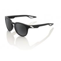 100% campo fietsbril soft tact zwart / grijs peakpolar lens