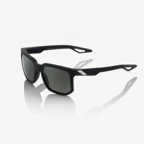100% centric fietsbril soft tact zwart / grijs peakpolar lens