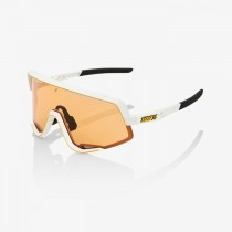 100% glendale fietsbril soft tact wit - persimmon lens
