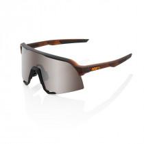 100% S3 - Matte Translucent Brown Fade - HiPER Silver Mirror Lens