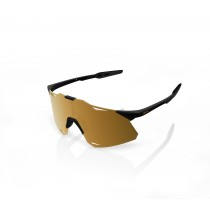100% Hypercraft - Matte Black - Soft Gold Mirror Lens