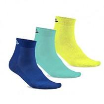 Craft greatness mid chaussettes bleu heal jaune (3-pack)