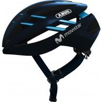 Abus aventor casque de vélo team movistar bleu