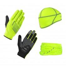GripGrab hi-vis cycling essentials paquet hi-vis jaune
