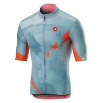 Castelli Giro102 Feltre Croce D'Aune maillot de cyclisme à manches courtes blu polvere bleu