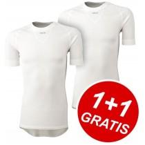 AGU Secco Shirt KM White 1+1 Gratis