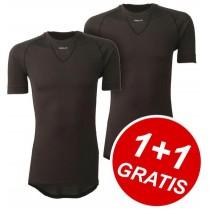 AGU Secco Shirt KM Black 1+1 Gratis