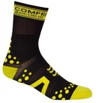 COMPRESSPORT Bike Socks High Black Yellow
