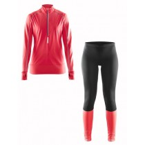 CRAFT Brilliant Thermal Lady Running Set Black Pink