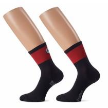 Assos cento evo 8 chaussettes de cyclisme national rouge
