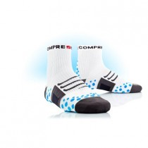 COMPRESSPORT Bike Socks High White Blue