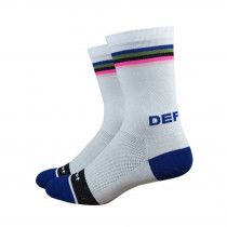 Defeet Aireator High Top Chaussettes de cyclismeHorizon Blanc Multi
