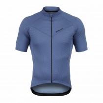 De Marchi corsa maillot de cyclisme manches courtes bleu