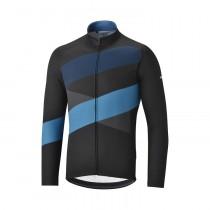Shimano thermal team maillot de cyclisme manches longues noir bleu