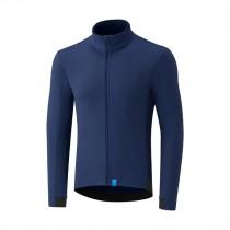 Shimano wind maillot de cyclisme à manches longues bleu