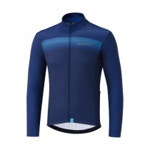 Shimano team maillot de cyclisme à manches longues bleu